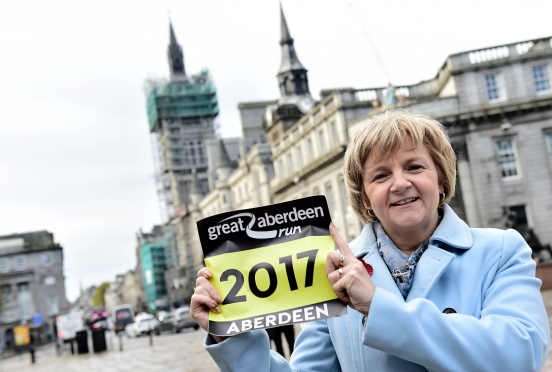 Jenny Laing at the launch of the Great Aberdeen Run