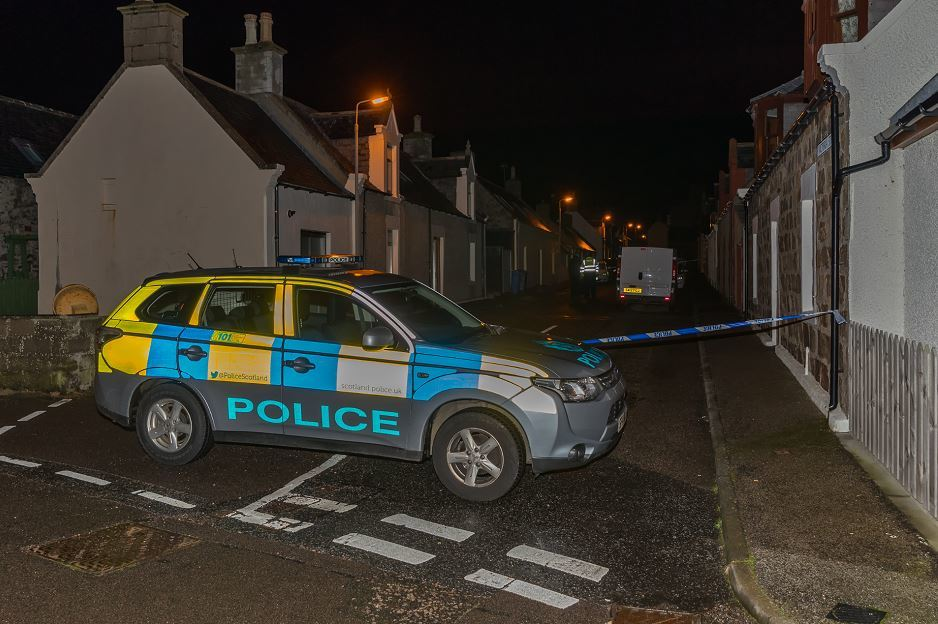 Police are at the scene of an ongoing incident in Moray