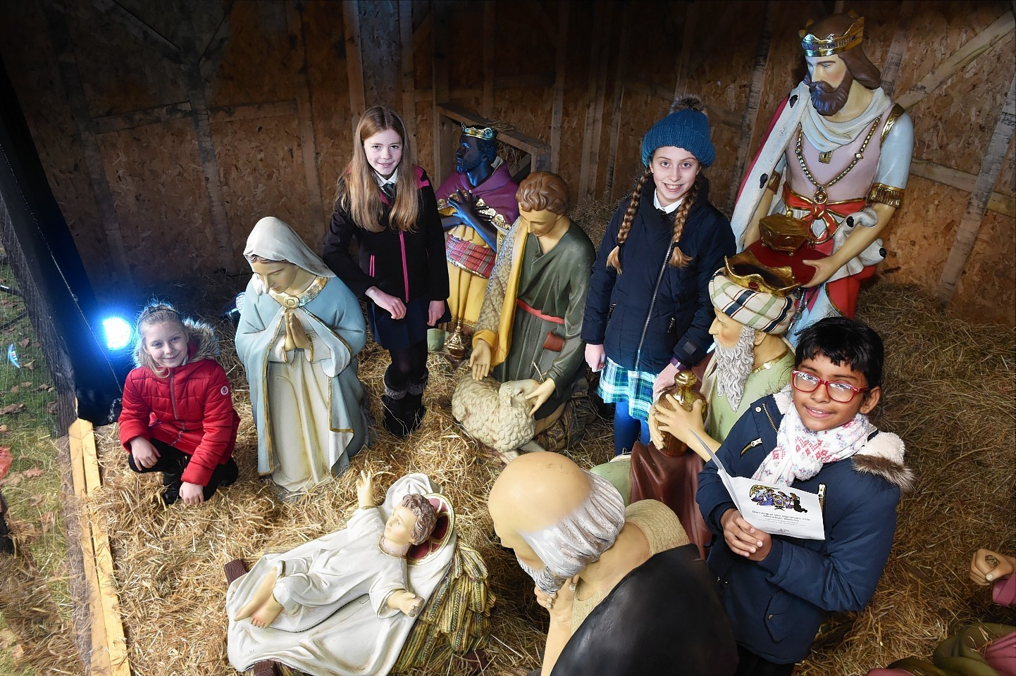 The blessing of the Aberdeen City Christmas Nativity was held at the Saint Nicholas Kirkyard.