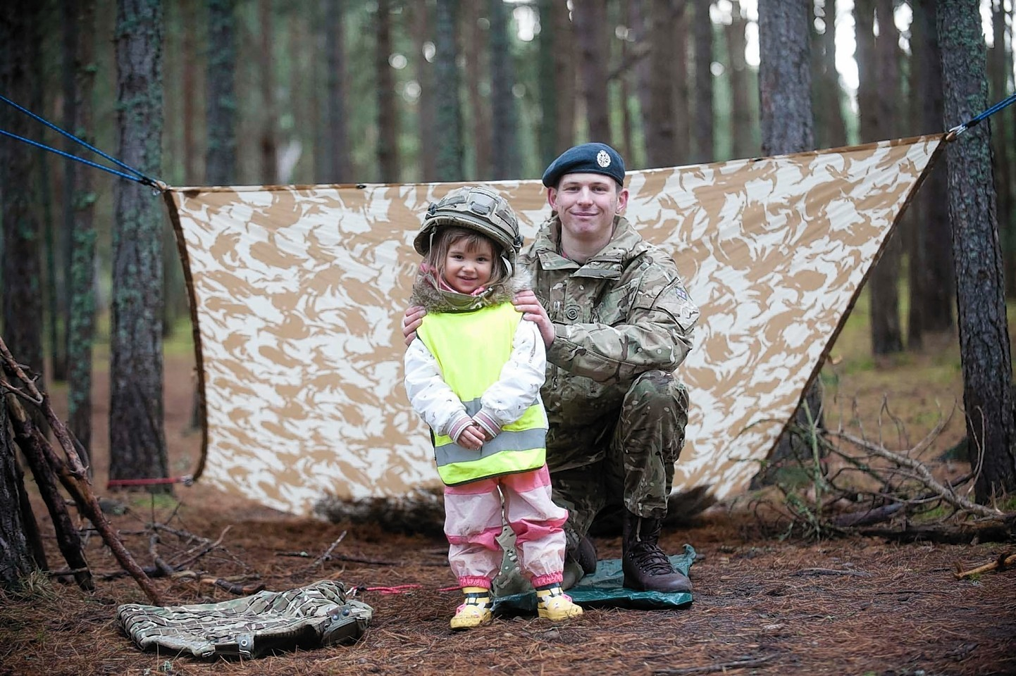 Luci-jo Madden with SAC Tom Gilbert of RAF Lossiemouth.