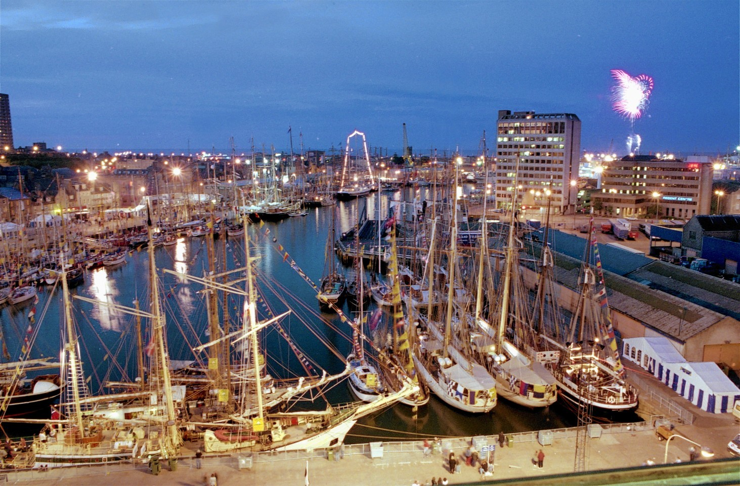 The Tall Ships visit to Aberdeen Harbour in 1991