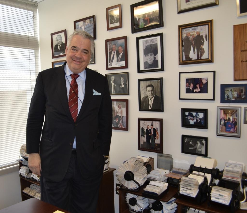 John Gizzi in his DC office
