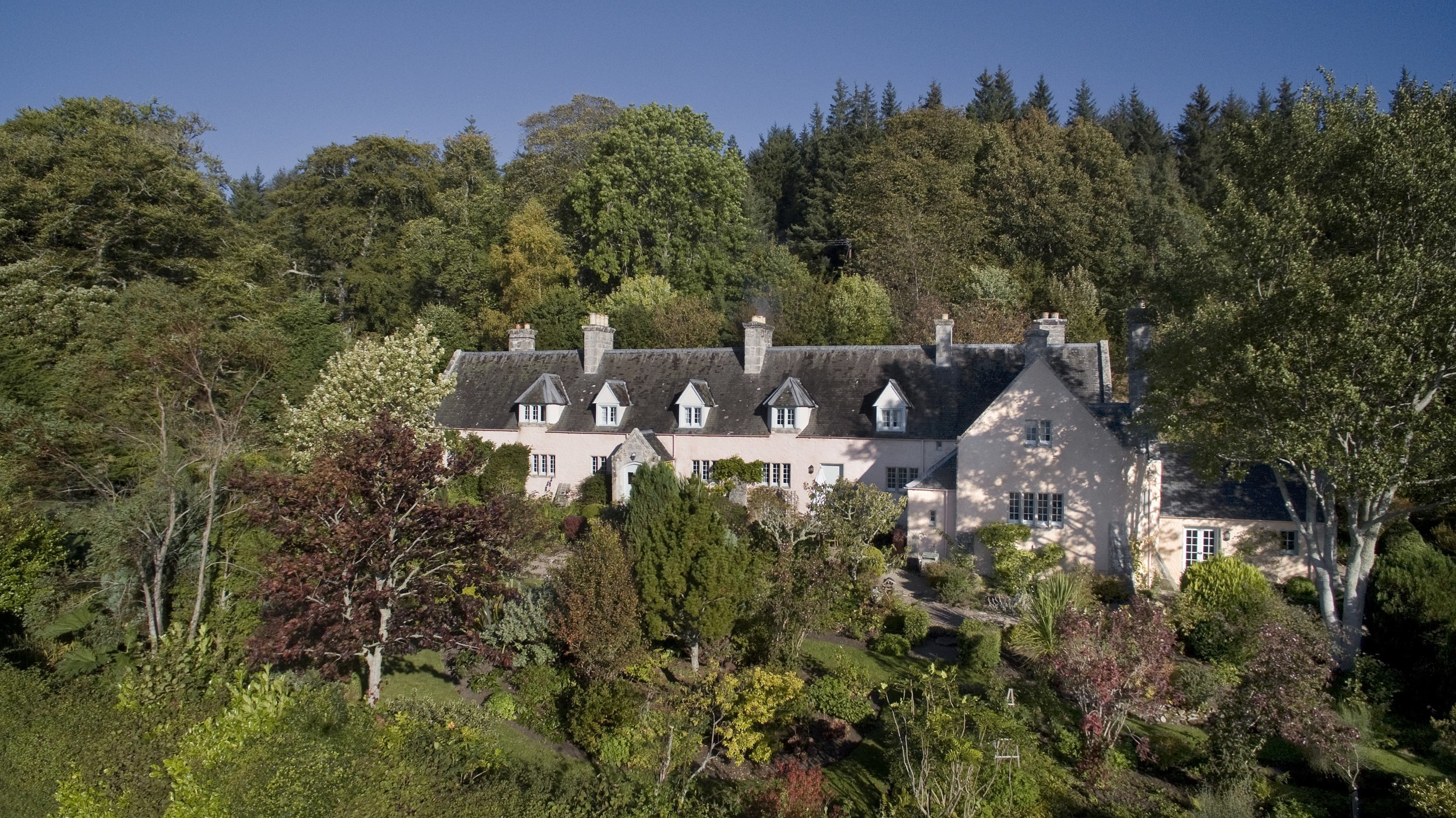 This gorgeous B-listed five-bedroom detached house, like its near neighbour, Dunrobin Castle, is surrounded by delightful formal gardens and mature woodland.