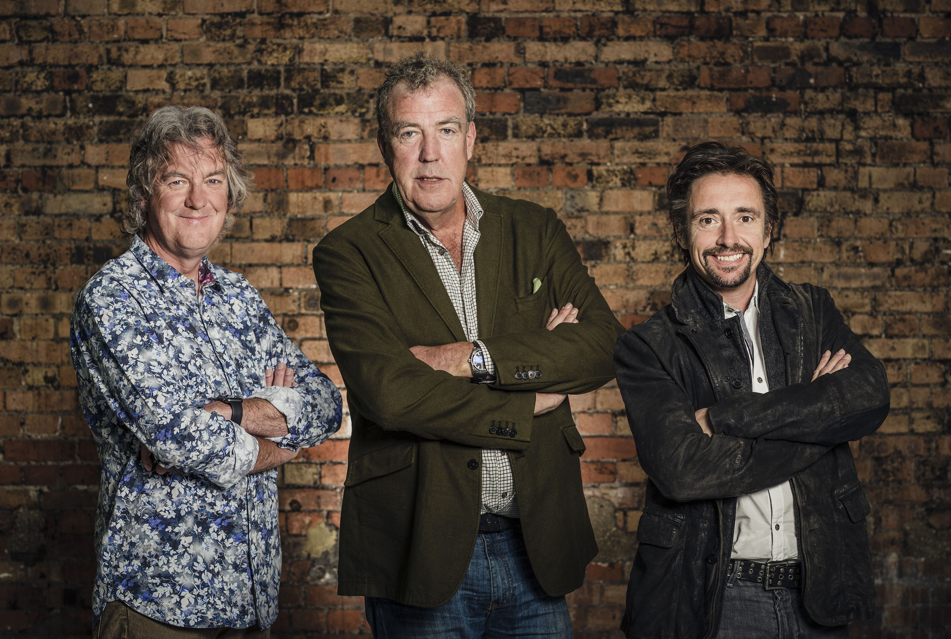 (left to right) James May, Jeremy Clarkson and Richard Hammond
