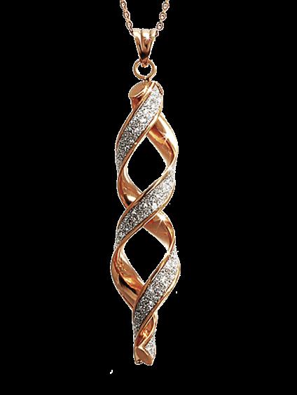 9 carat rose gold glitter earrings £250