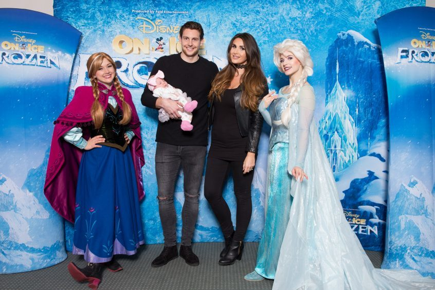 Ash Taylor with his wife India and daughter meets Anna and Elsa