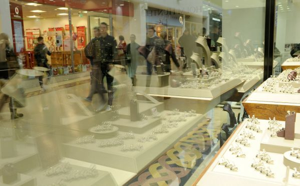 Shoppers were out in force at the Eastgate Centre in Inverness.