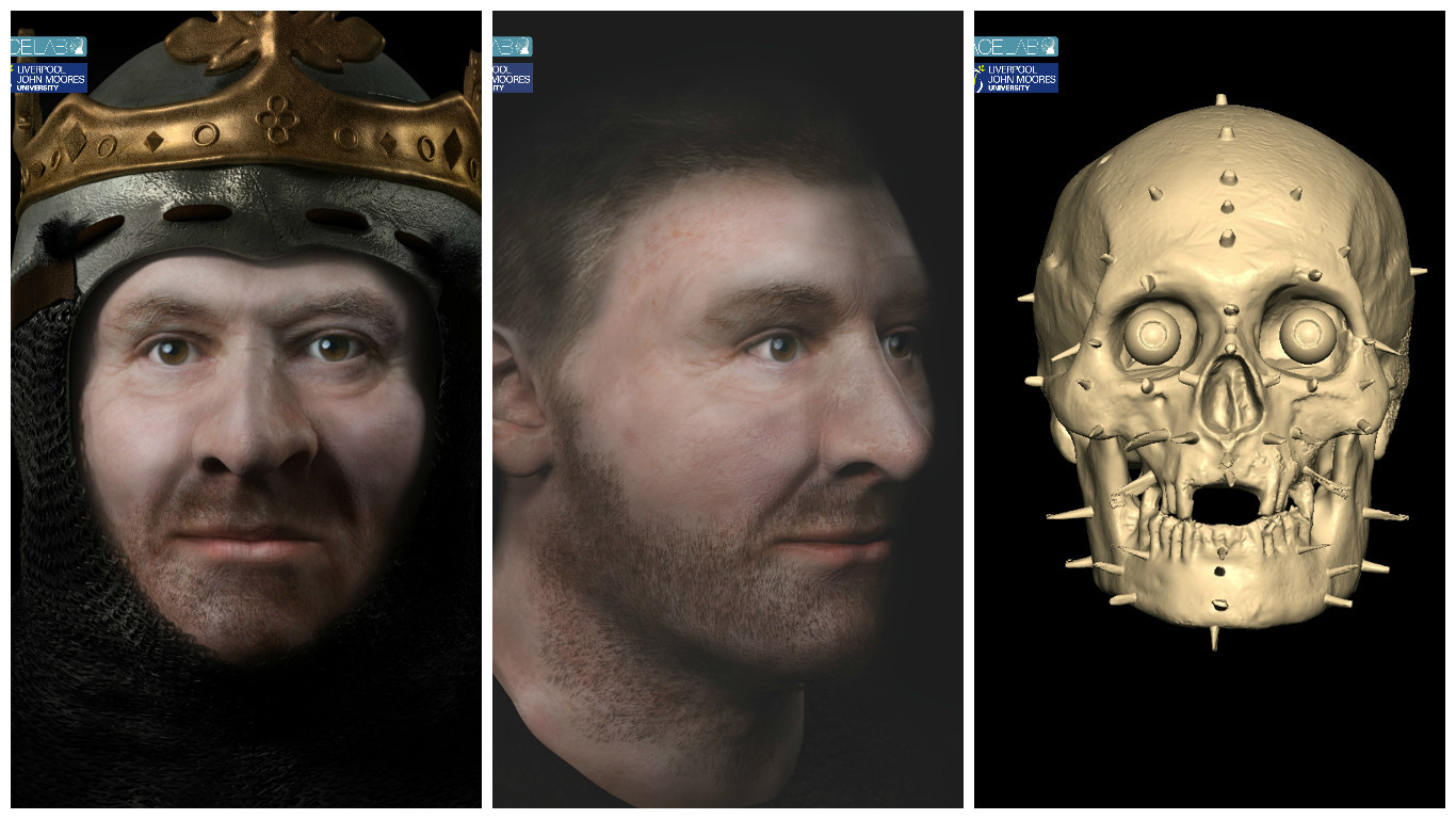 The images were unveiled at the University of Glasgow today after historians worked with craniofacial experts from Liverpool John Moores University (LJMU).