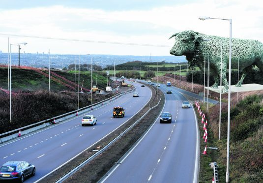 Pictured is a locator of the A90 looking North into Aberdeen whilst AWPR work goes on. This is montage created by the P&J