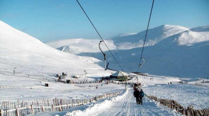 The current Cairnwell T-Bar at Glenshee