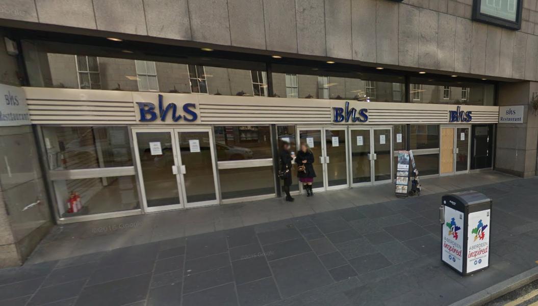 BHS in Aberdeen (courtesy Google Maps)