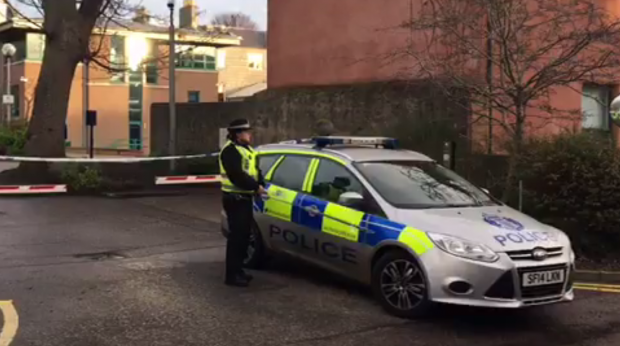 Albyn Lane assault: Officers carried out an investigation at the scene on Monday Morning