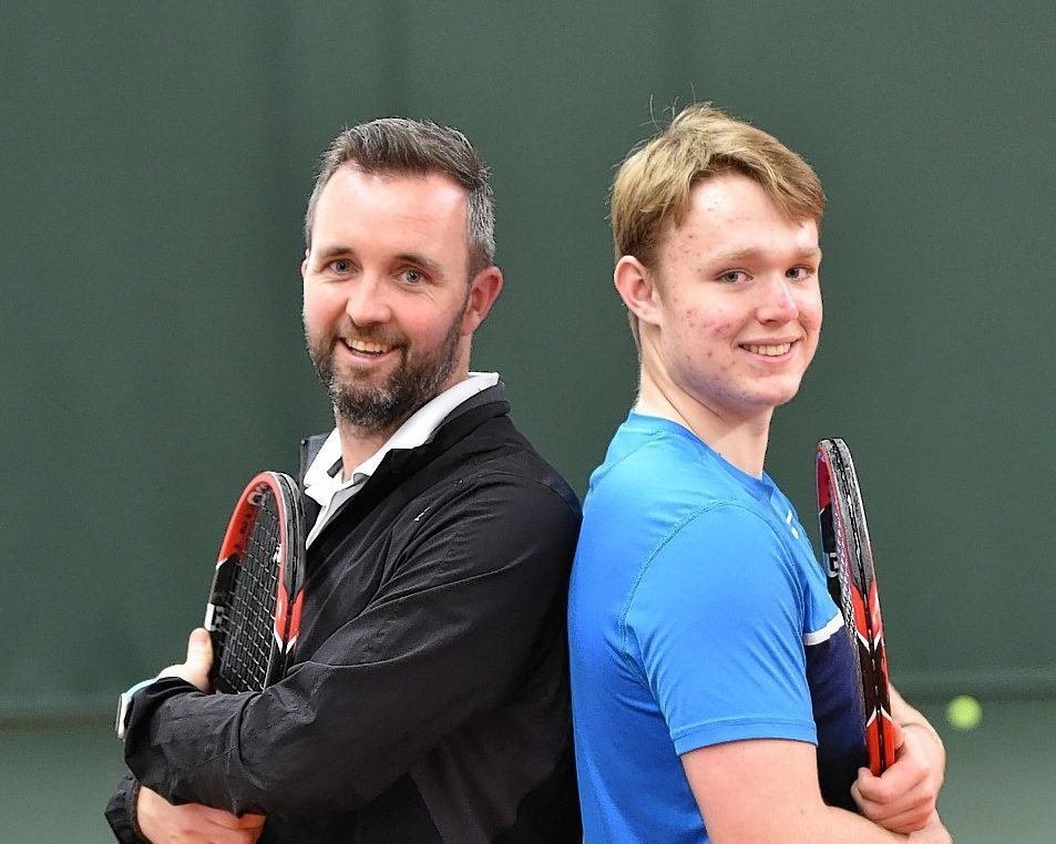 Ross Martin is 15 yrs old and is been trained by David Lloyd tennis coach Mark Malcolm. Pic by Colin Rennie