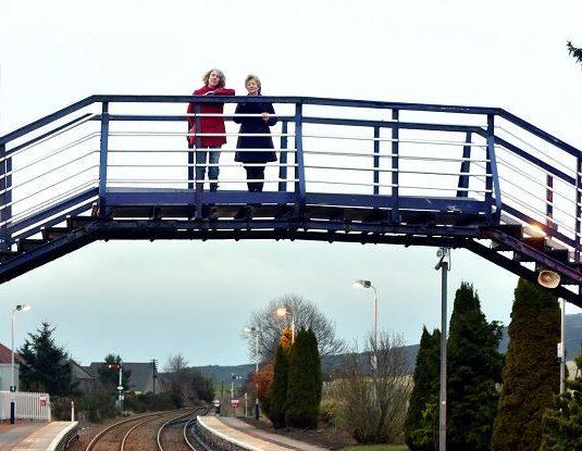 The bridge at Insch Railway Station