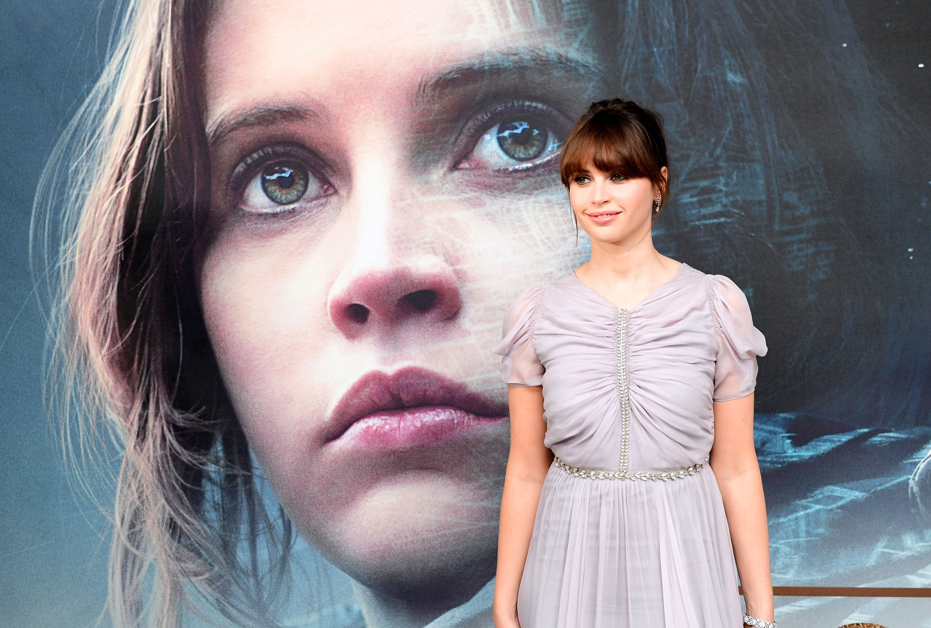 Felicity Jones attending a special screening of Rogue One: A Star Wars Story