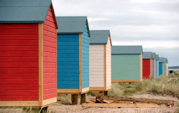 Findhorn residents were split over whether the huts should be allowed to be built on the village beach.