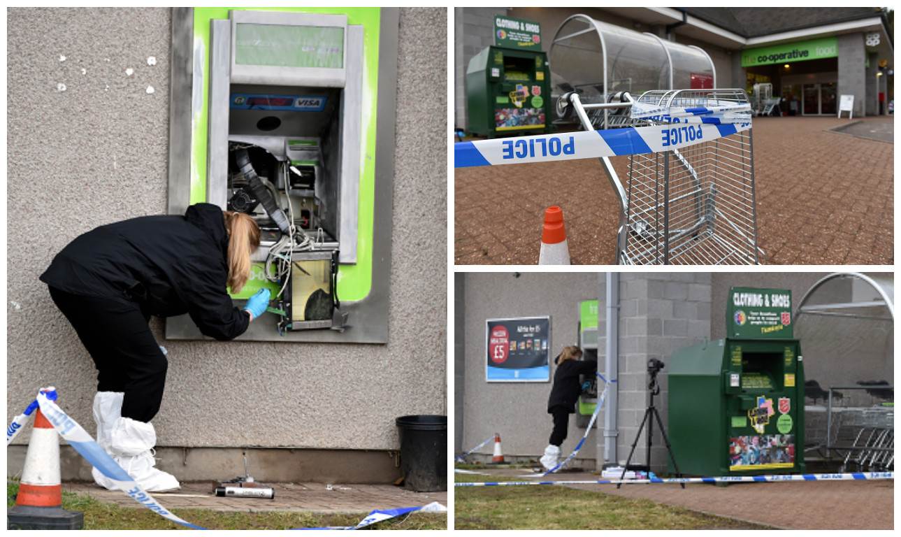 Attempted Alford ATM raid. Pictures by Colin Rennie