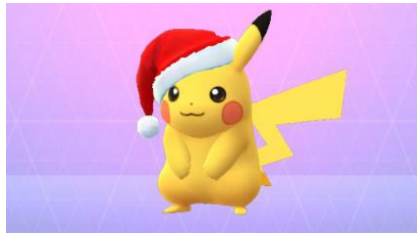 The cute newcomers are not the only new addition to the game, with Pikachu having gained a festive Santa hat to celebrate the season.