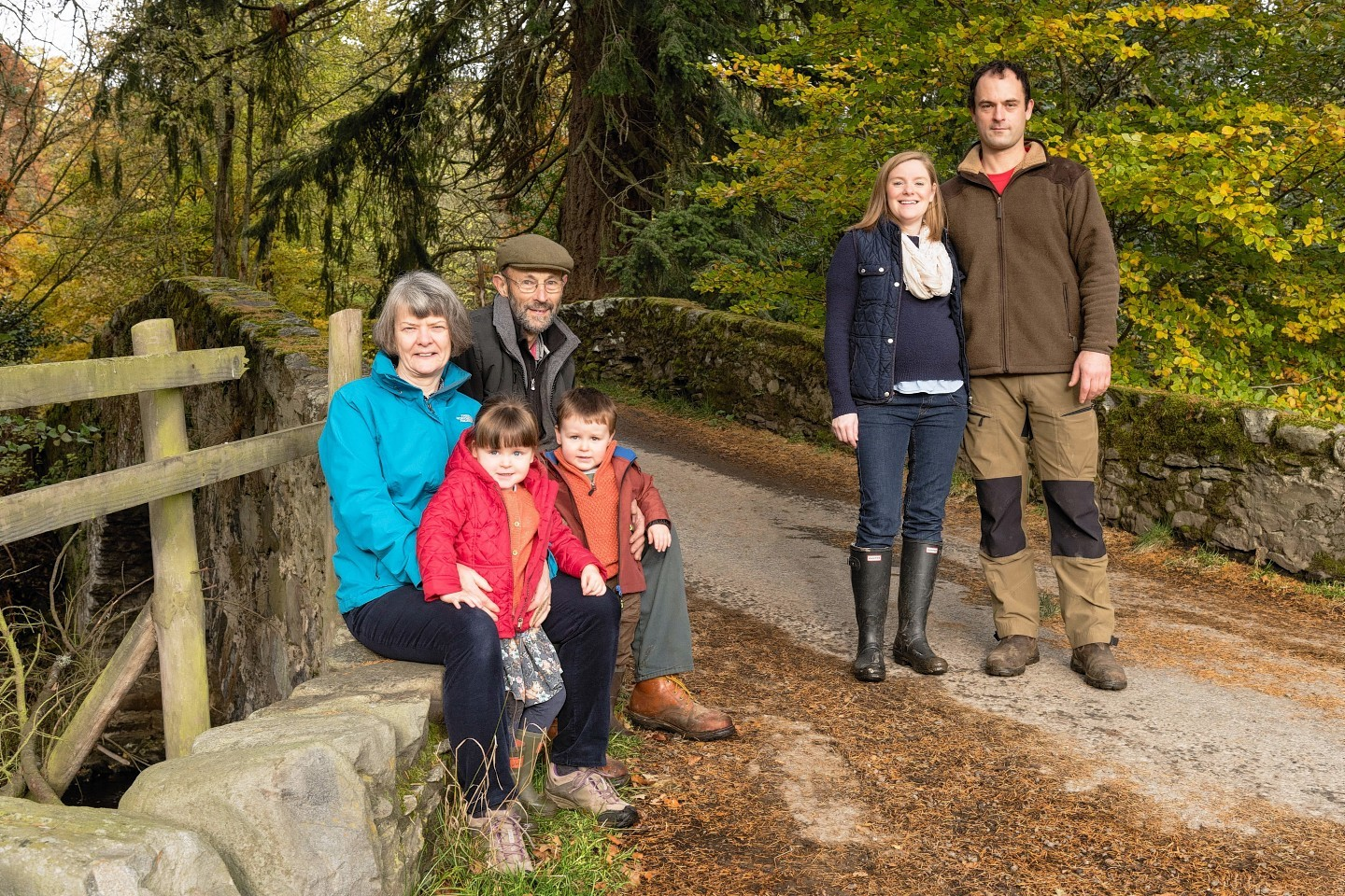 David Girvan (far right) with his wife Barbara, children Lucy and Angus, and his parents Lindsay and Mamie