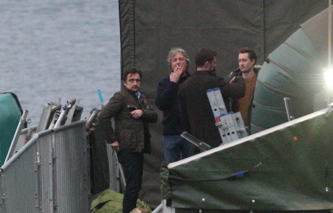 Richard Hammond and James May on set