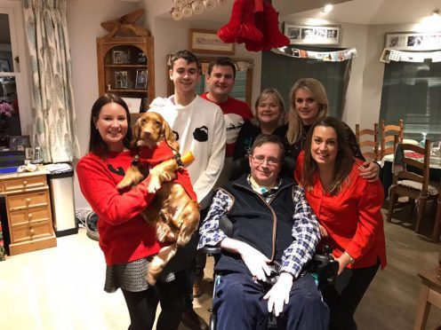 Robin Maitland enjoys Christmas Day at home for the first time in three years