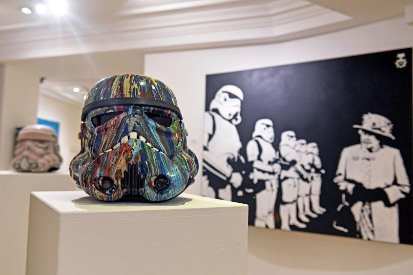 Stormtrooper helmet by artist Gary Winship