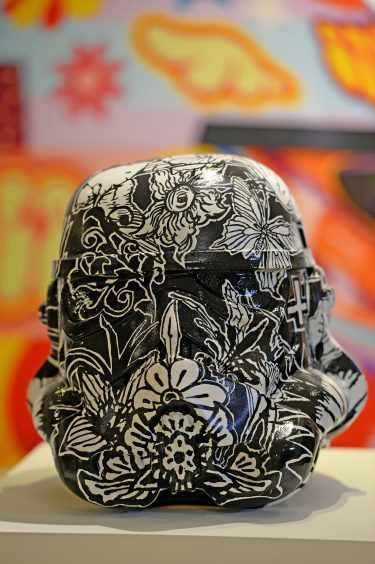 Stormtrooper helmet by artist Dan Baldwin
