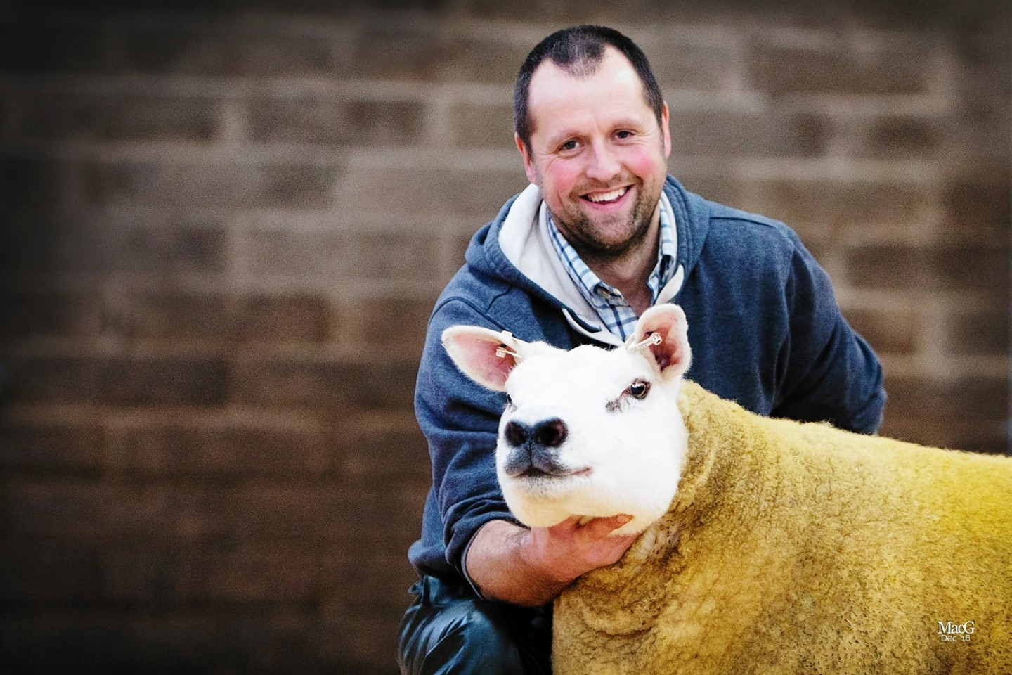 Michael Leggat and his champion Texel
