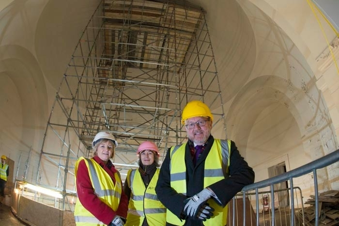 David Mundell MP was given a tour of Aberdeen Art Gallery by coucil leader, councillor Jenny laing and Christine Rew, art gallery manager