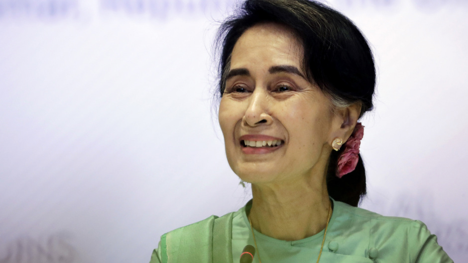 Aung San Suu Kyi has been criticised over the treatment of the Rohingya people in Rakhine state (AP/Wong Maye-E)