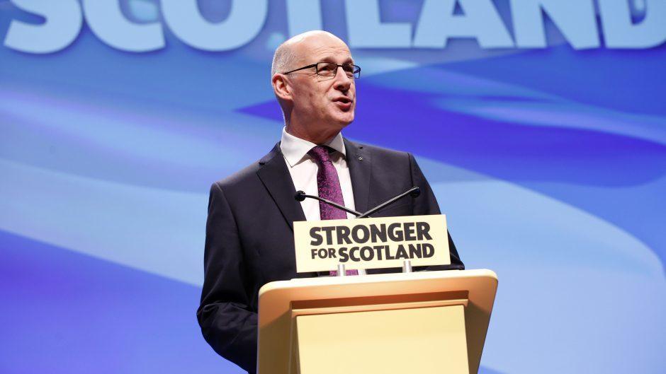 John Swinney said international statistics underline the case for radical reform of Scotland's education system