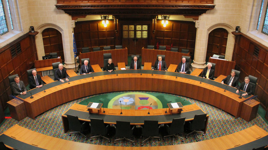 The eleven Justices Of The Supreme Court who are hearing the Government's appeal against the High Court decision on triggering Article 50