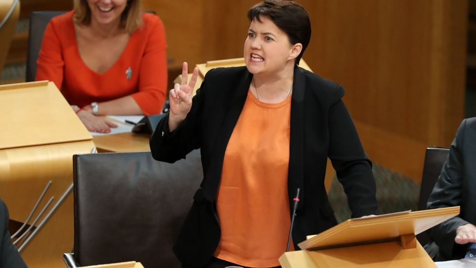 Ruth Davidson said the SNP's flagship school reforms were 'on probation' in the wake of the results of the 2015 Programme for International Student Assessment