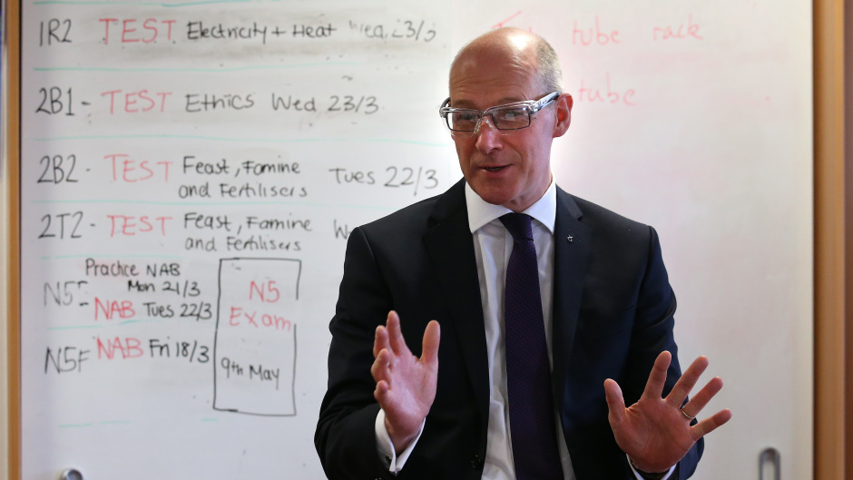 A teaching union has sent a document to John Swinney calling for an above-inflation pay rise