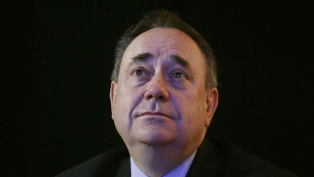 Former Scottish First Minister Alex Salmond outside the Court of Session in Edinburgh
