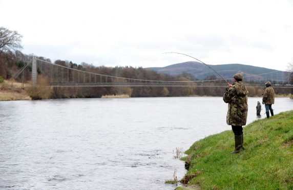 Anglers on the River Spey. The SGA Fishing Group is hopeful such activities may soon resume.