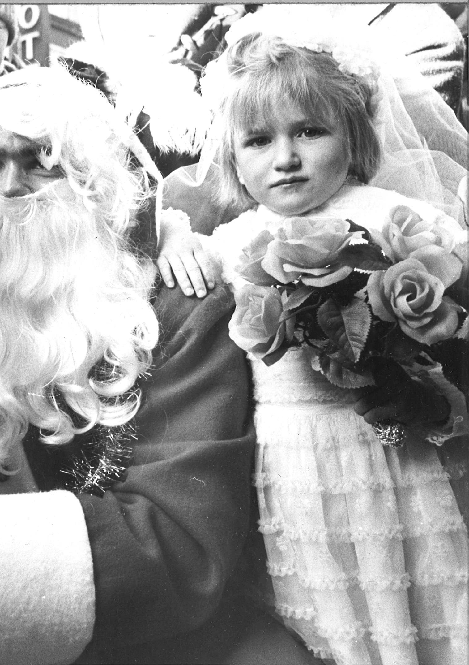 Children from Nazareth House, Aberdeen, visited Santa's Grotto. Flower girl Heida McLure was among the group in 1979.