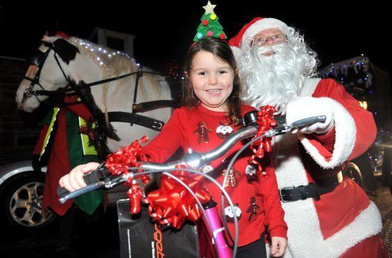 Santa Claus in Elgin last year