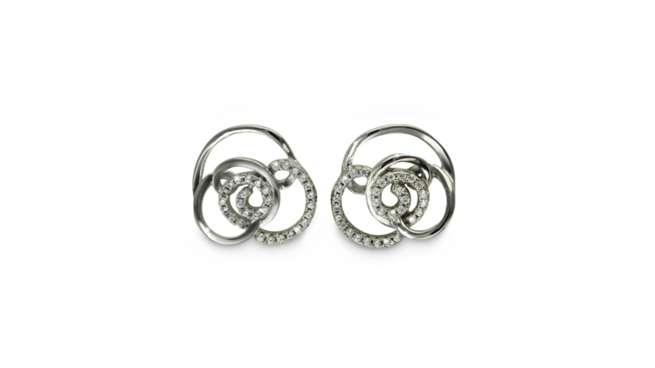 Silver and cubic zirconia earrings £55