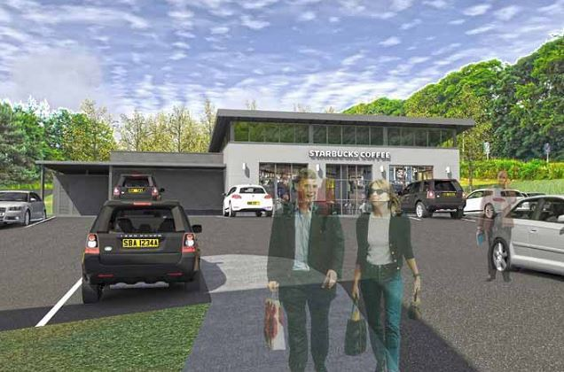 How the proposed Starbucks drive-through in Blackburn would look