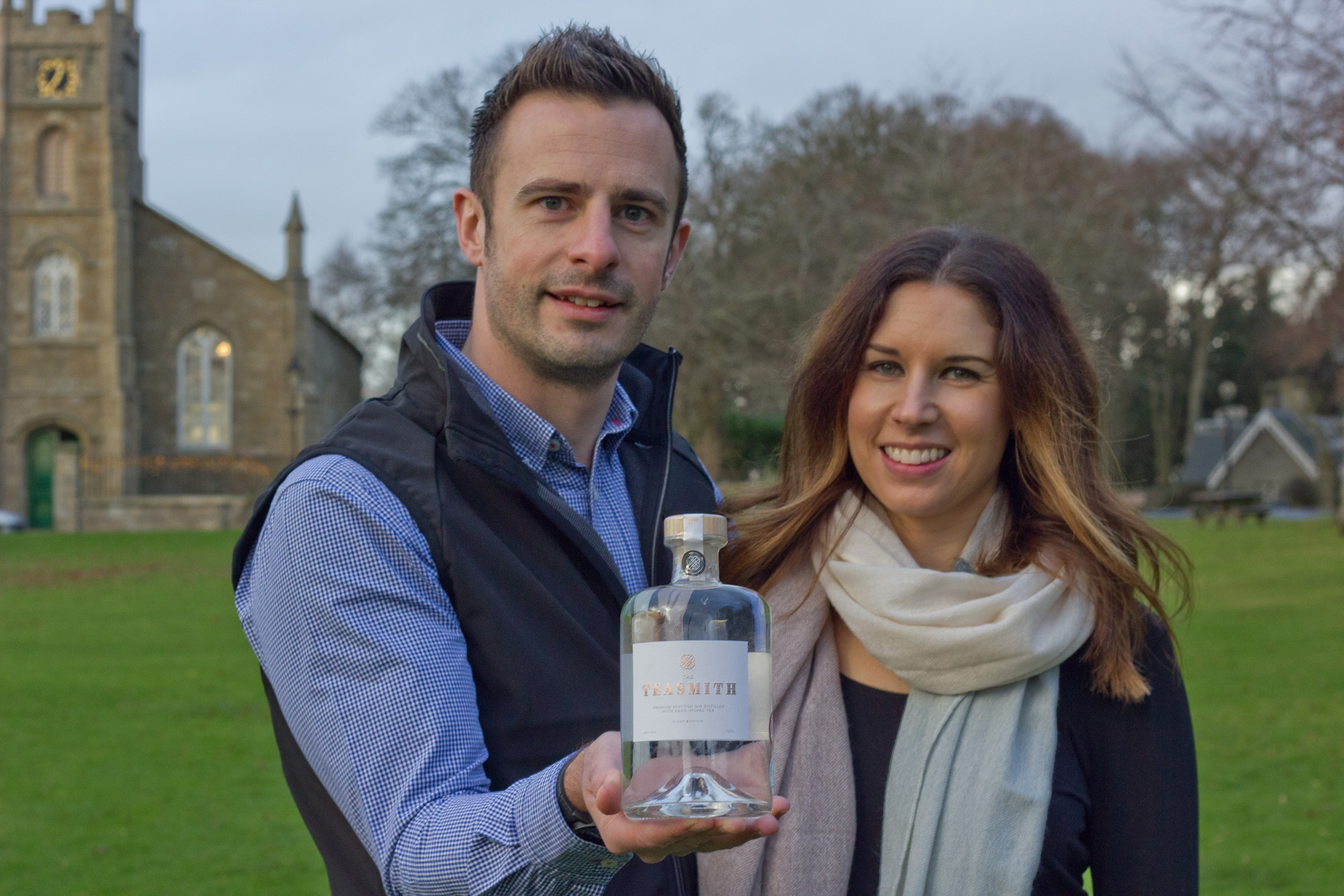 Teasmith Gin creators Nick and Emma Smalley, from Udny Green.