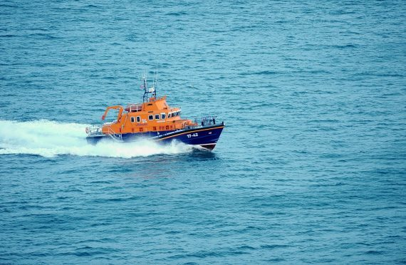 Thurso Lifeboat crew were called to the incident.