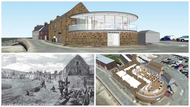 The Tolbooth Museum in stonehaven is planning a £1.3million extension.