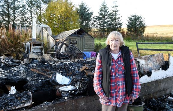 Joanna Davidson lost everything when a fire destroyed her Tomintoul home.