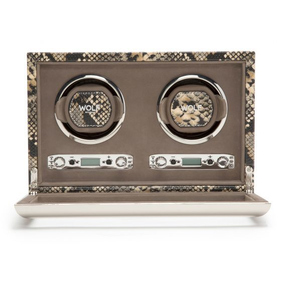 Wolf Exotic Double Watch Winder £798