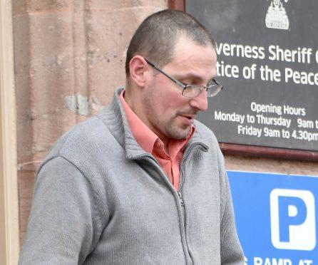 Zbigniew Komorowski leaves Inverness Sheriff Court.