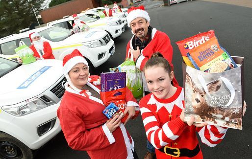 Balmedie Primary School donated food to Aberdeen Cyrenians with the help of AWPR staff