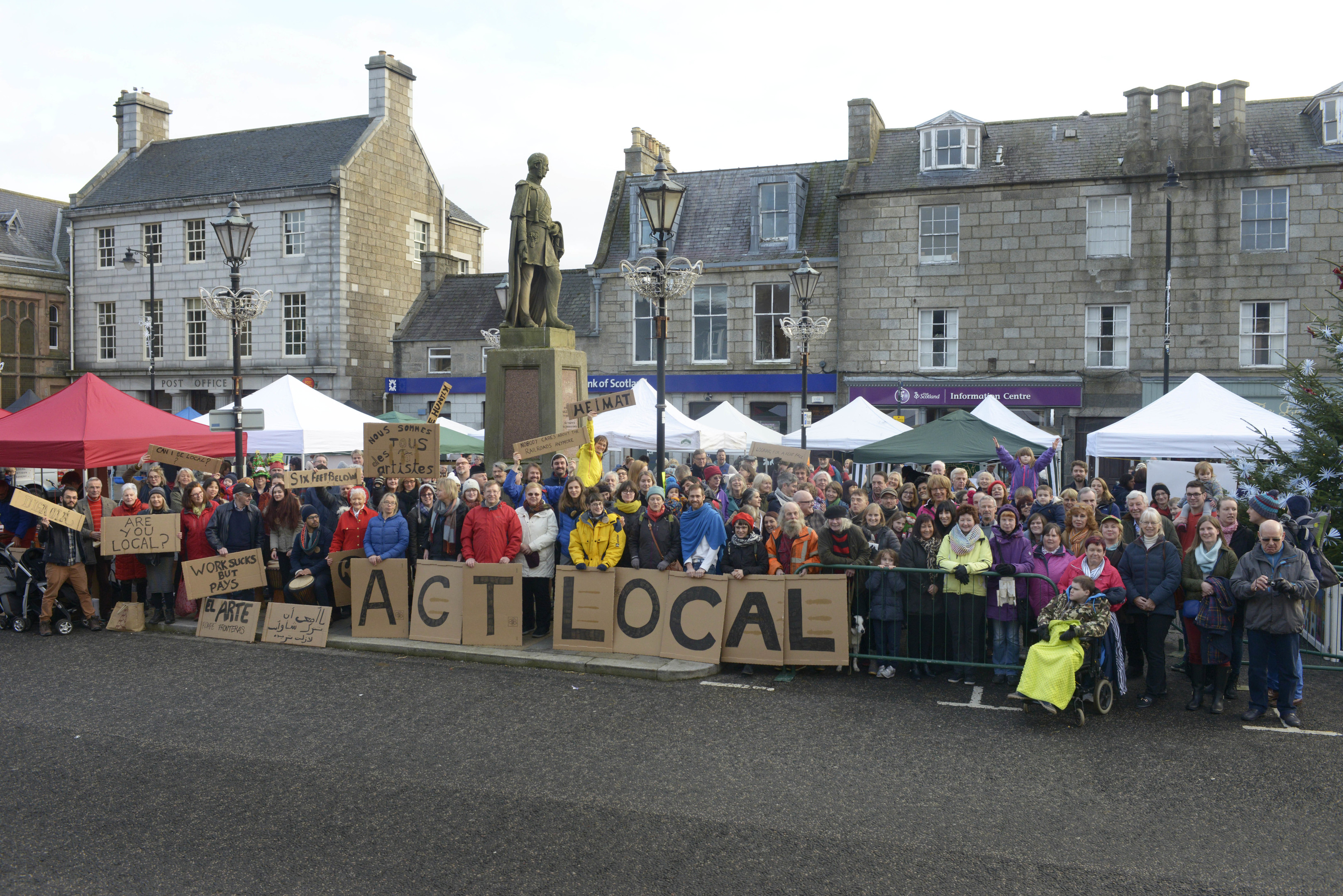 Huntly residents attend the Deveron Arts 'Town is the Venue' event