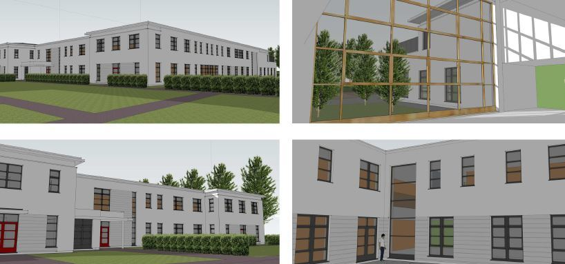 Artists impressions of the new Inverurie Health Centre