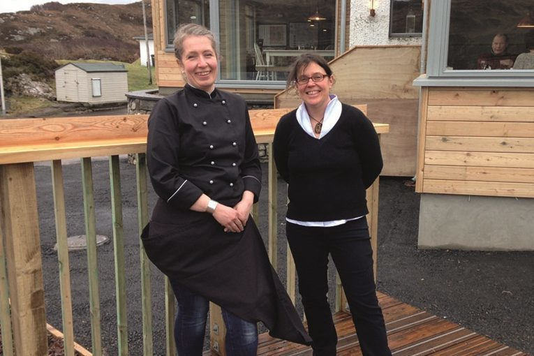 Kylesku Hotel  owners Tanja Lister and Sonia Virechauveix .